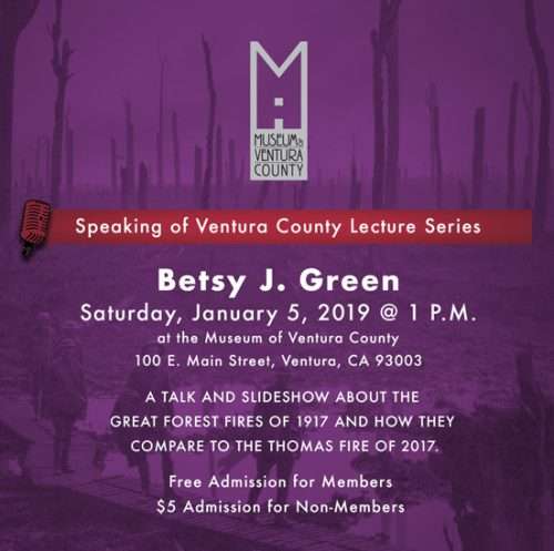 Speaking of Ventura County Lecture Series featuring Betsy J. Green @ Museum of Ventura County | Ventura | California | United States