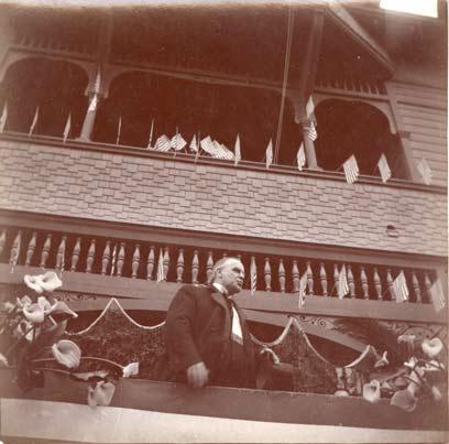 President William McKinley speaking in Ventura in May 1901