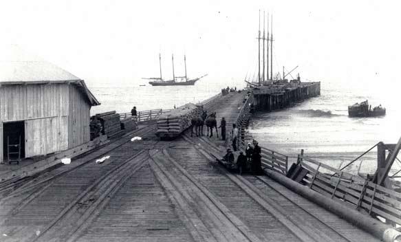 Hueneme wharf, c. 1880