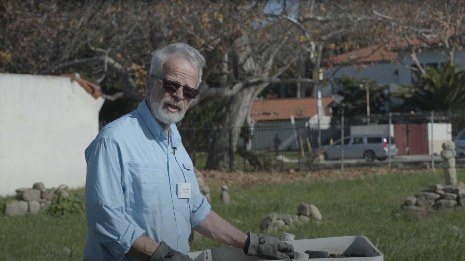Test Screening Spoil – Archaeologist John Foster
